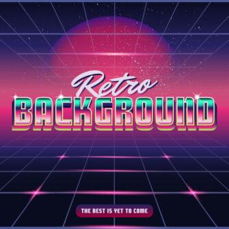 Retro Wave Synthwave Background