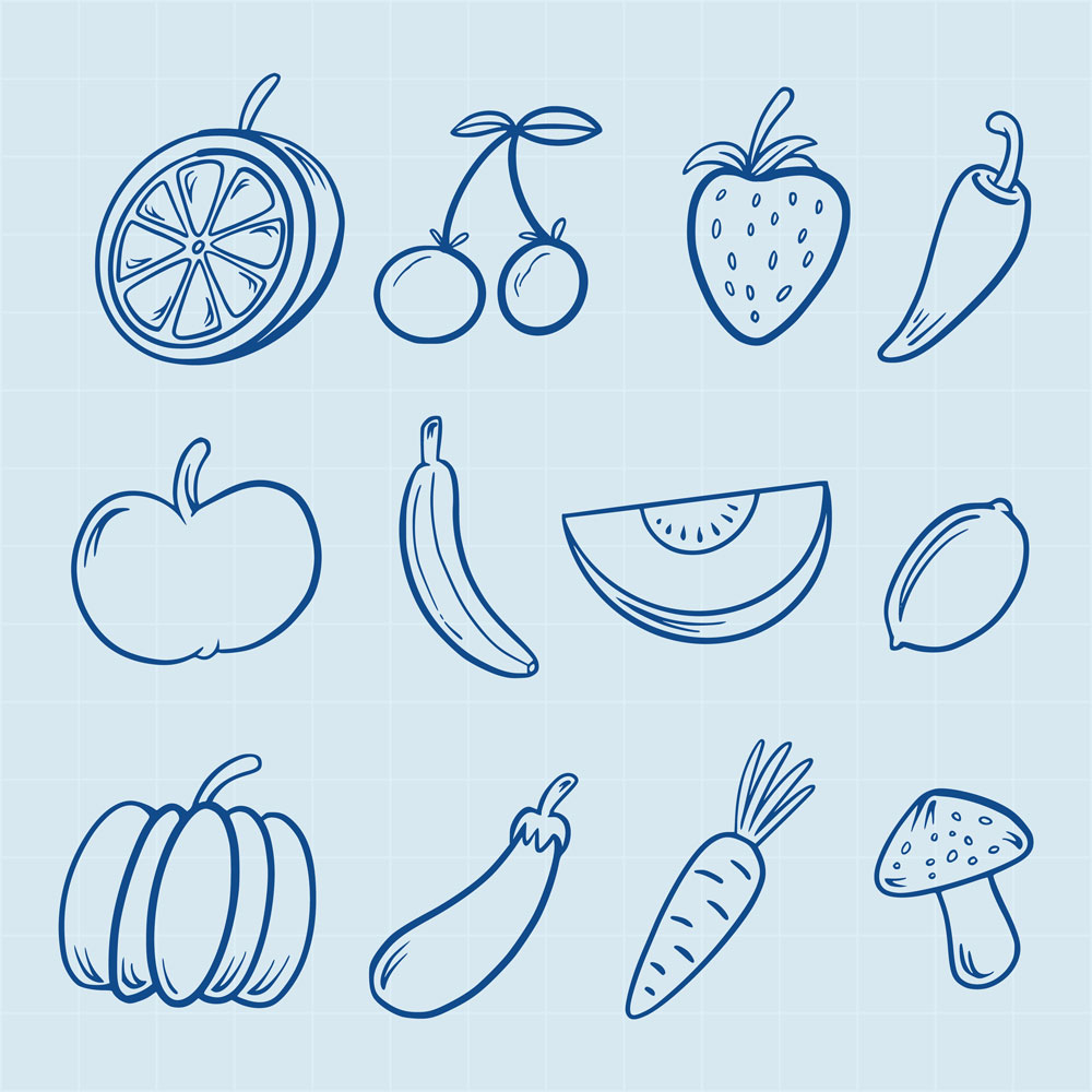 Hand Drawn Fruit Icons