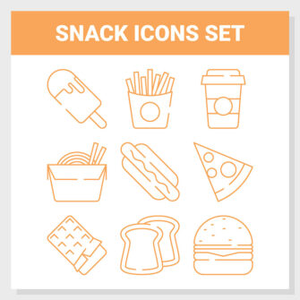 Snack Icons Set