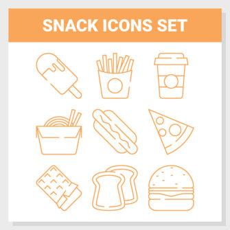 Snack Icons Set