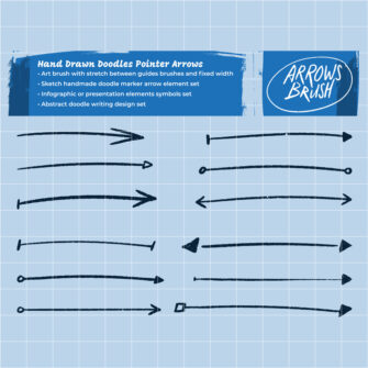 Hand Drawn Sketch Arrows Design Elements