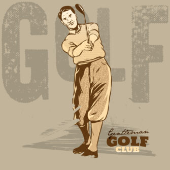 Golf Player Is Doing A Swing Illustration