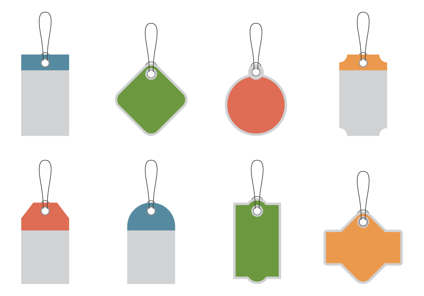 Price Tag Promotions Vector Template