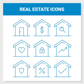Real Estate Outline Icon Set
