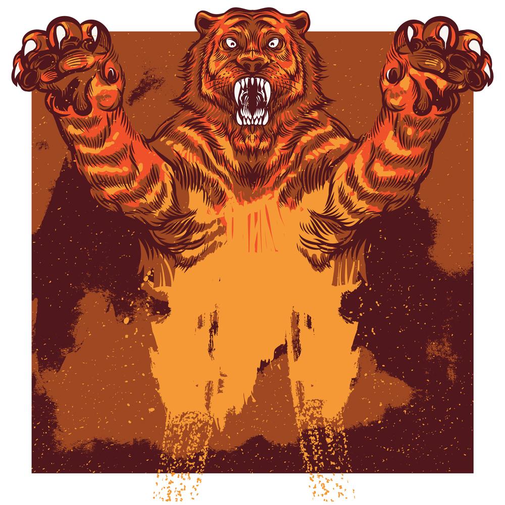 Wild Tiger Vector Illustration