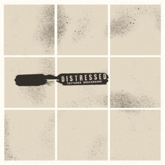 Grunge Distressed Background Design Set