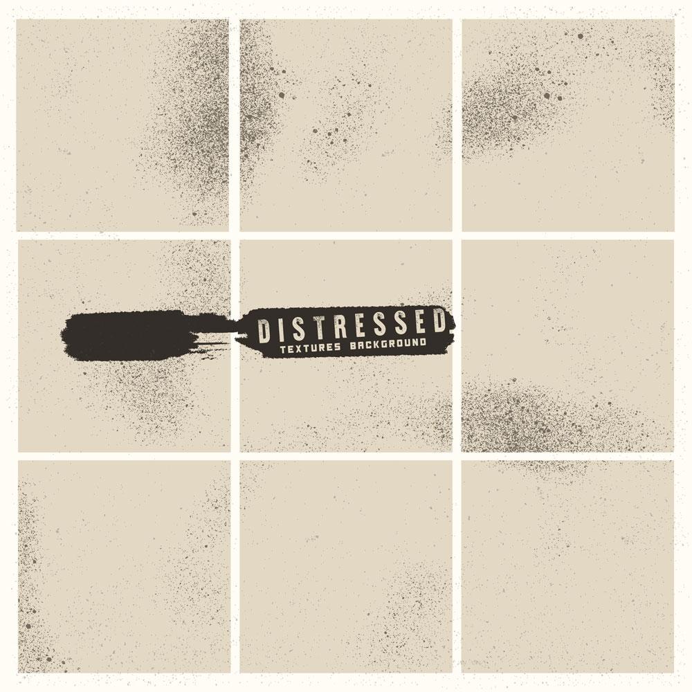 Grunge Distressed Background Design Set