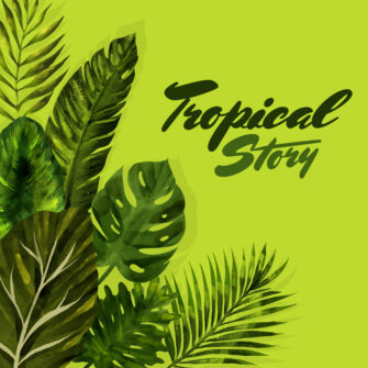 Trendy Summer Tropical Leaves