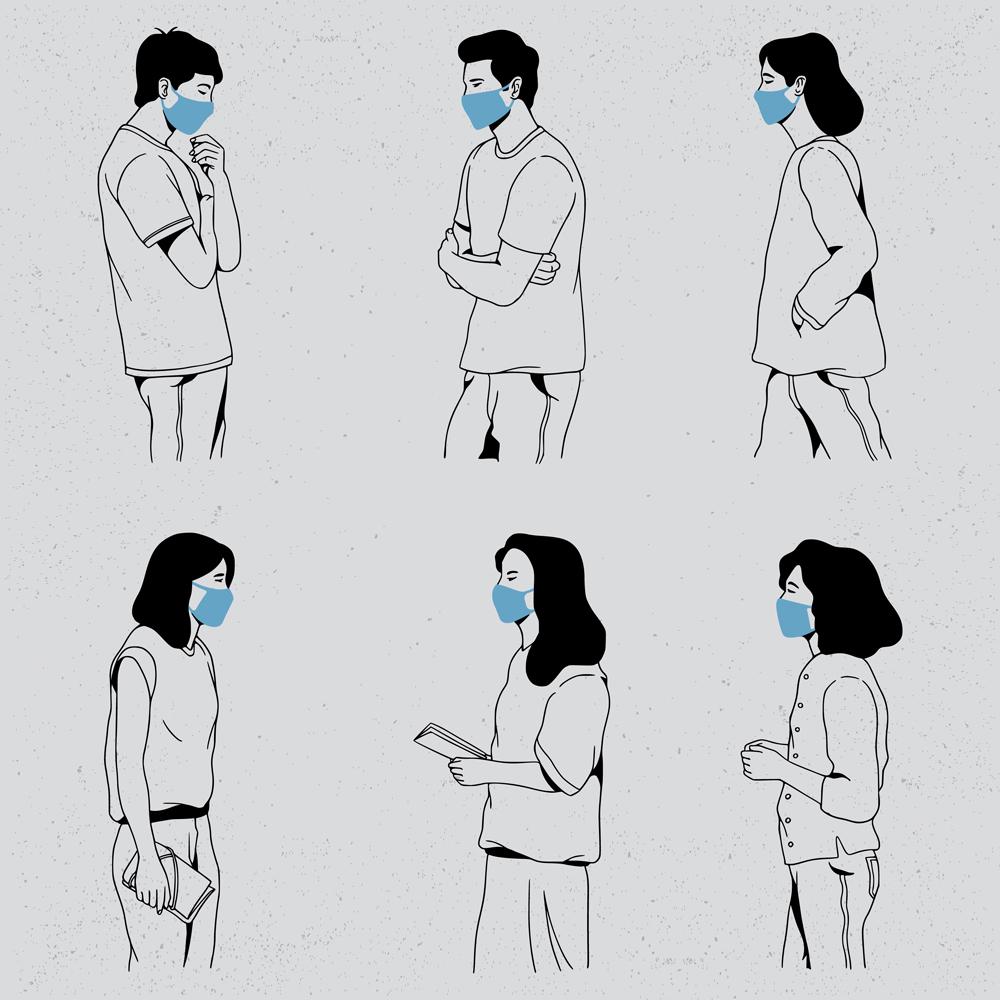 People Wearing Medical Mask