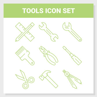 Tools Outline Icon Set