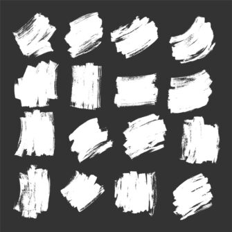Grunge Brush Strokes Vector Set