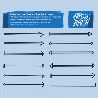 Hand Drawn Sketch Arrows Design Elements