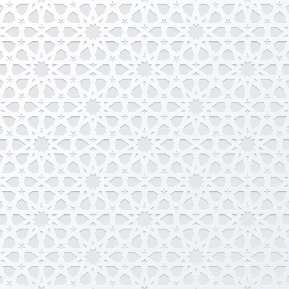 White Arabic Pattern Background