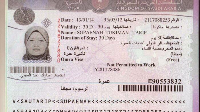 Biaya Visa ke Arab Saudi