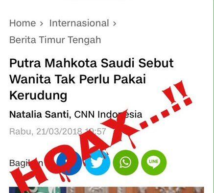 Menguliti CNN Indonesia: Putra Mahkota Saudi Sebut Wanita Tak Perlu Pakai Kerudung