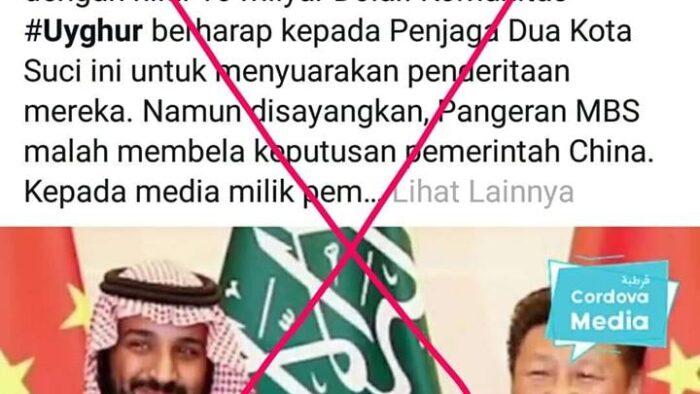 Fitnah Media Atas Arab Saudi yang Mendukung Genosida Muslim Uighur Cina