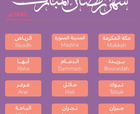 Imsakiyah di Kota-kota Besar di Arab Saudi