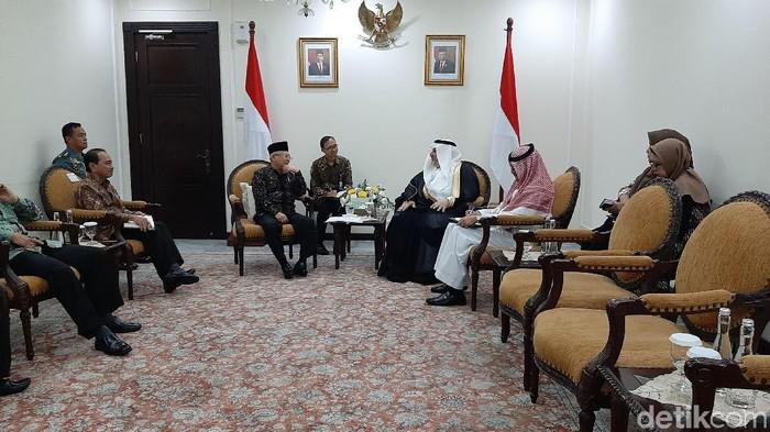 Dubes Saudi Temui Ma'ruf Bahas Pembentukan Dewan Tinggi RI-Arab Saudi