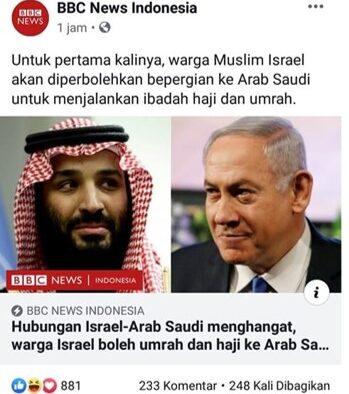 Warga Negara Israel boleh Masuk ke Arab Saudi Secara Resmi, Menurut Siapa?