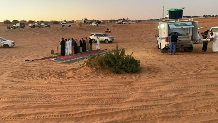 Musholla Bergerak di Tempat Umum dan Hiburan di Riyadh