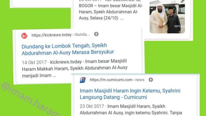 Jangan Asal Melabeli Seseorang Sebagai Imam Masjidil Haram