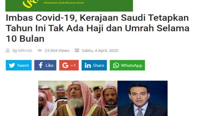 Pelaksanaan Haji Tahun Ini: Waspada Media Penyebar Berita Tanpa Sumber Terpercaya