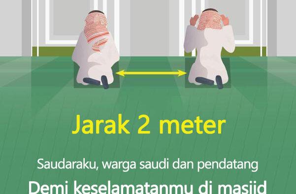 Ini Protokol yang Harus Dipatuhi Saat Masjid Dibuka di Arab Saudi