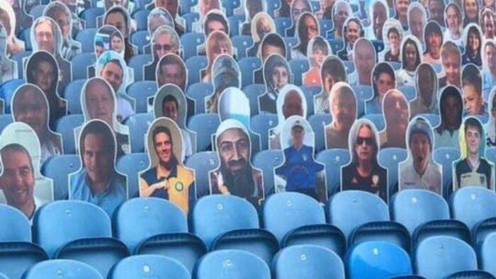 "Viral: Liga Inggris Bergulir Lagi, ""Usamah bin Laden"" di Bangku Pendukung Leeds United"