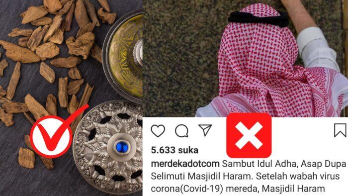 Di Masjidil Haram, Yang Dibakar Gaharu Bukan Asap Dupa