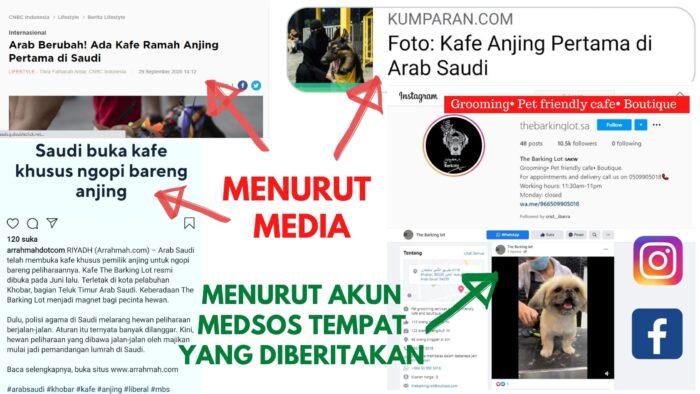 Kafe Ngopi Bareng Anjing di Saudi Menurut Arrahmah dan Media Sekuler Lainnya