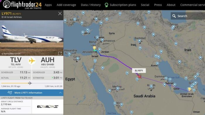 Pesawat Israel Melintas Udara Saudi, Berkhianat Terhadap Palestina?