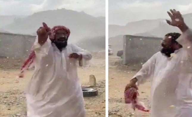 Video: Hujan Turun Membuat Gembira Warga Saudi Setelah Kemarau Sekian Lama