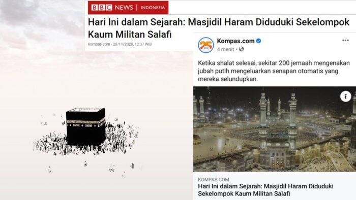 Judul Paling Hoax: Masjidil Haram Diduduki Sekelompok Kaum Militan Salafi