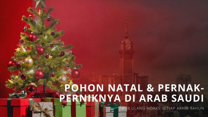 Penampakkan Pohon Natal Dan Pernak-perniknya di Toko Suvenir Arab Saudi