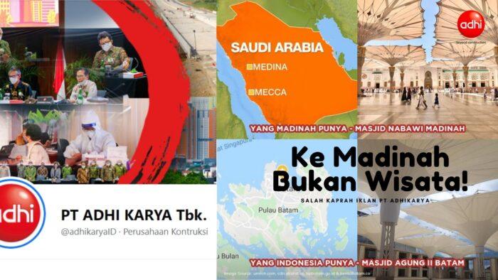Promosi Wisata Salah Kaprah Adhi Karya