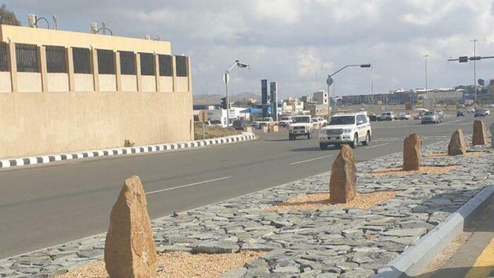 Batu Serupai Nisan Di Jalan Kota Abha Akhirnya Diruntuhkan